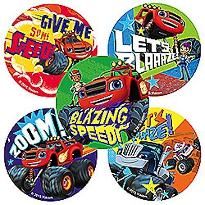 25 Blaze and The Monster Machine Truck Stickers Party Favors Teacher Supply  - Monster Truck Party Supplies