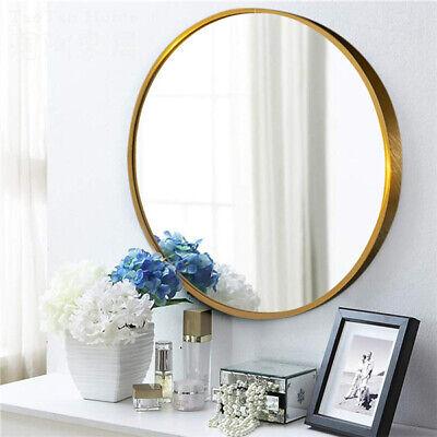 Round Wall Mirror Modern Bathroom Vanity Mount Framed Beveled Metal Frame Home Black Wall Mount Vanity