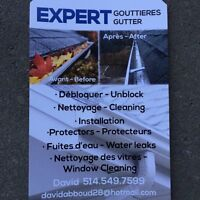 Gouttieres expert nettoyage/reparations/installation