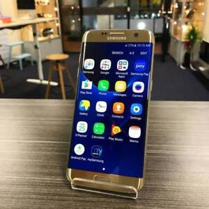 AS NEW SAMSUNG S7 EDGE 32GB GOLD UNLOCK INVOICE WARRANTY Highland Park Gold Coast City Preview