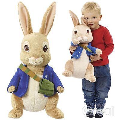 "New Peter Rabbit & Friends 17"" Jumbo Peter Rabbit Plush Soft Toy Official"
