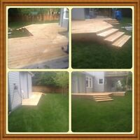 Small patios to larger decks