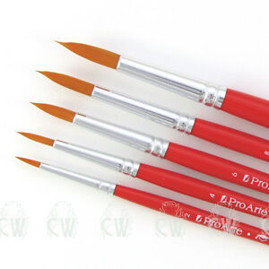 Pro Arte Artists ACADEMY 5 Brush Set. For Watercolour & Acrylic Painting.