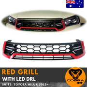 TOYOTA HILUX LED DRL RED GRILL GRILLE***********2017 SR SR5 M70 Hoppers Crossing Wyndham Area Preview