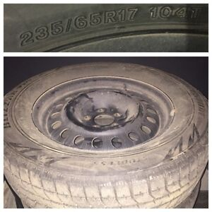Bridgestone Blizzak 235/65r17 winter tires on rims