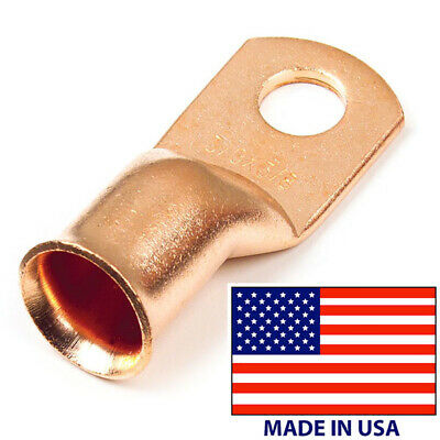10 Battery Cable 10 Awg Copper Lug Ring Terminal 38 Stud Connector End Usa