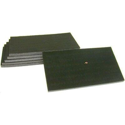 6 72 Slot Black Foam Ring Display Tray Inserts