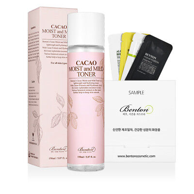 [Benton Cosmetic] Cacao Moist and Mild Toner 150ml+Free Sample 2019 New Arrival