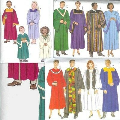 Church Choir Robe Butterick Sewing Pattern Unisex  You Pick