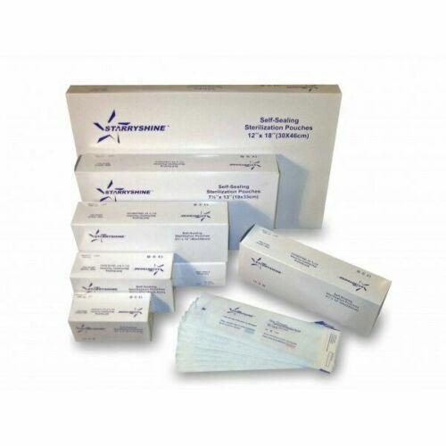 """Starryshine Autoclave Premium 12""""x18"""" Self Sealing Sterilization Pouch 200pcs/pk"""