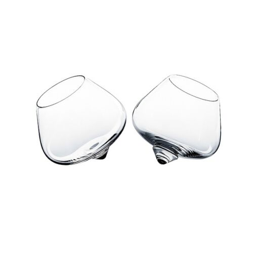 Normann Copenhagen Cognac Rocking Glasses Set Of 2 Designer Gift New Boxed