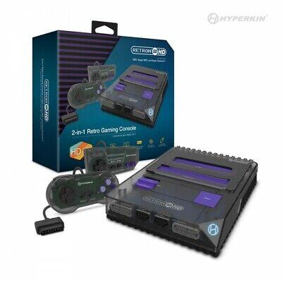 RetroN 2 HD Gaming Console for NES/ Super NES/ Super Famicom (Space Black) - NEW