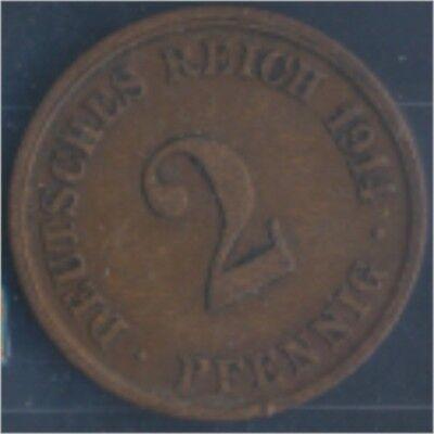 Deutsches Reich Jägernr: 11 1914 J vorzüglich Bronze 1914 2 Pfennig (7848980