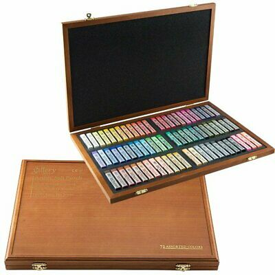 Mungyo Gallery Artists' Soft Pastel Squares Wood Box Set of 72 - Assorted Colors (Assorted Soft Pastel)