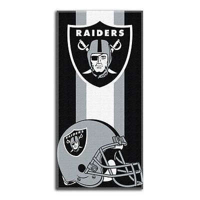 Oakland Raiders Zone Read 30  X 60  Beach Towel
