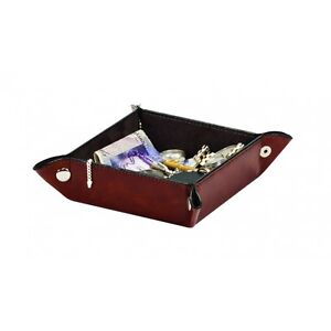 Raffles Gents Ladies Brown Leatherette Valet Travel Tray By Mele & Co