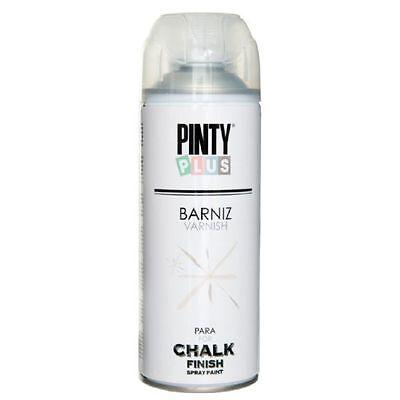 BARNIZ MATE EN SPRAY BASE AGUA PARA CHALK PAINT PINTYPLUS 520cc CK821...