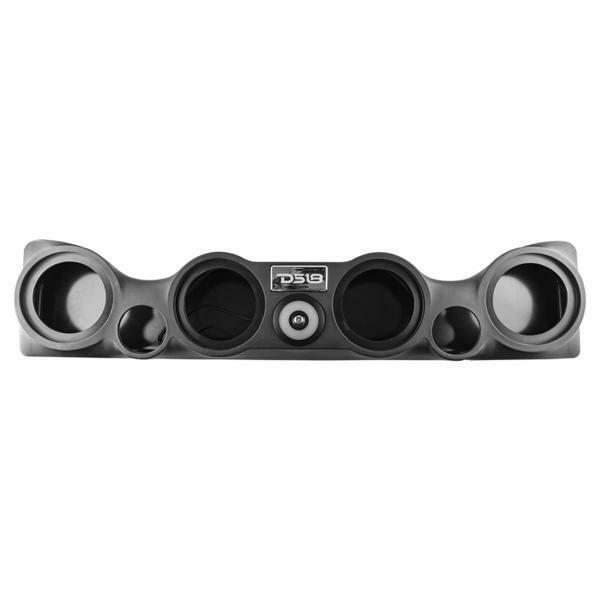 "Black Jeep Wrangler Sound Bar System fits 4 x 6.5"" and 2 x 1.75"" TJ-SBAR-BK"