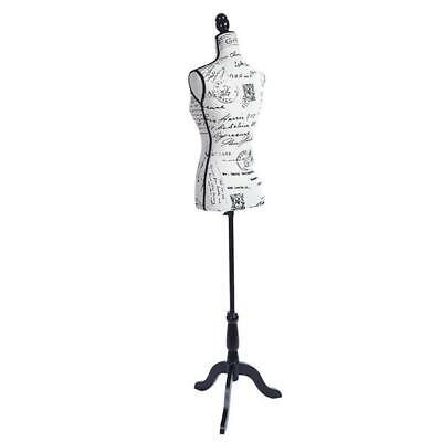 Female Mannequin Torso Dress Form Tripod Stand Clothing Women Display Coat