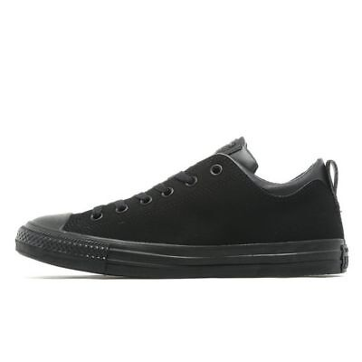 Men's Converse All Star Double Collar Ox Trainers Black Size 8 UK...