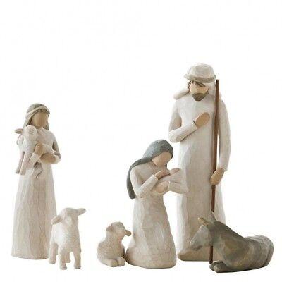 NEW Willow Tree Christmas Story Nativity Set Joseph Mary Baby Jesus & Animals