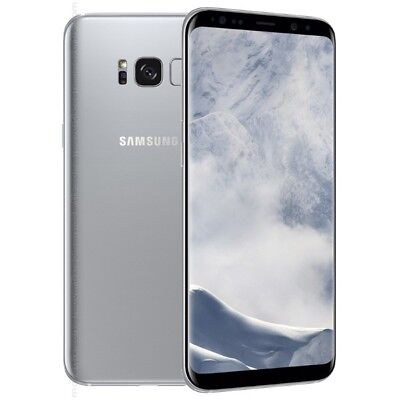 Samsung Galaxy S8 PLUS SM-G955U 64GB GSM Unlocked Smartphone - Arctic Silver LCD