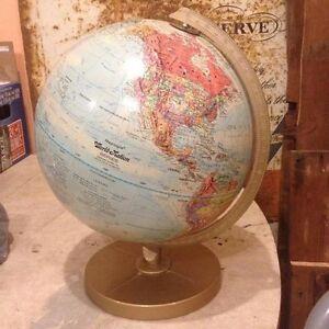 Vintage Tin Litho / Pressed Metal Globe