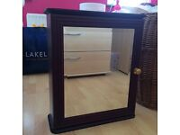 Wooden mirrored wall cabinet