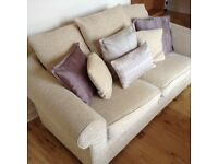 2 seater sofa with cushions