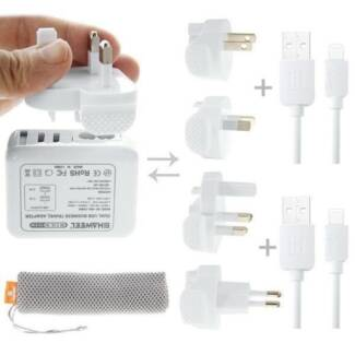 HAWEEL Travel Charger Kit with Mesh Bag 2.1A Dual USB Charger new