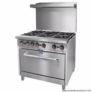 Commercial S36 - Gasmax 6 Burner with Oven Melbourne CBD Melbourne City Preview