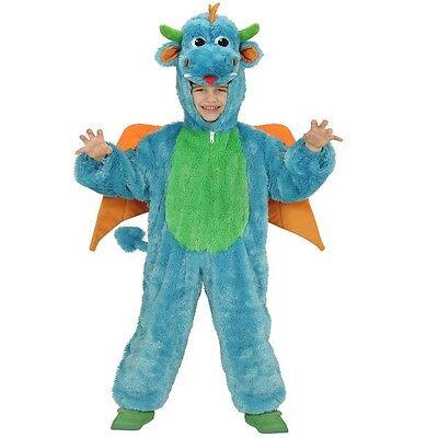 Drache Kleinkind Kostüm (Plüsch Kostüm Gr. 98cm DRACHE Kinder Karneval Fasching Verkleidung Kleinkind)