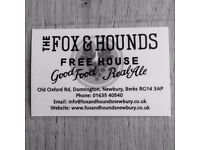 Chef required at Fox and Hounds