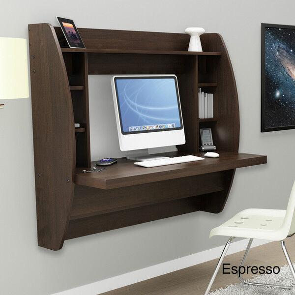New Floating Wall Design Desk W Storage Computer Ez Mount