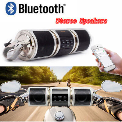 Bluetooth Motorcycle Handlebar Audio Amplifier Stereo Speaker Mp3 Usb Tf Systems
