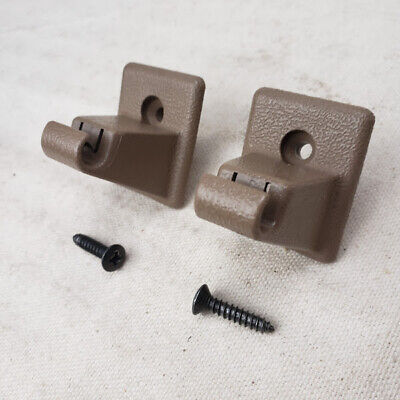 1992-1999 Chevy Suburban Tahoe Sun Visor Clip Tan Neutral Set of 2 with Screws