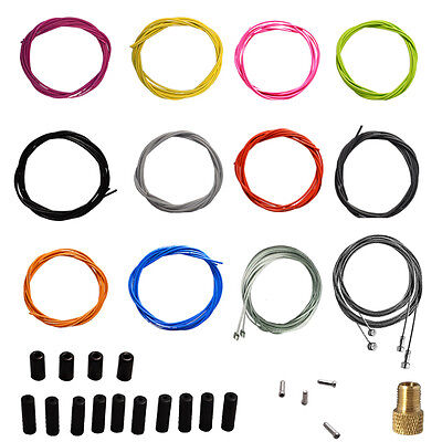 Bike Shifter Cables - Jagwire OEM brake & shifter cable housing kit Road & Mountain Bike with Presta