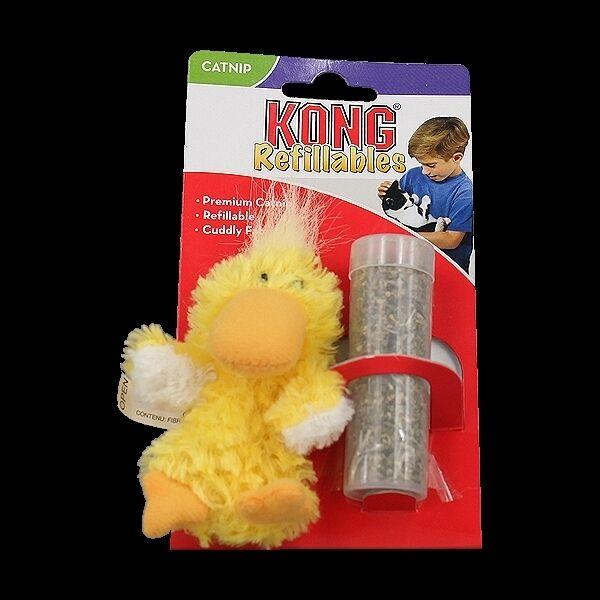 Kong Catnip Duck for Cats - Refillable Catnip