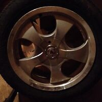 Set 16x7 aluminum wheels