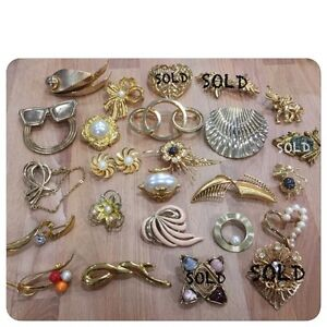 Vintage brooches (5 for $10)