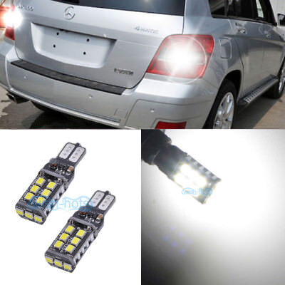 2xT15 W16W Error Free LED Reverse Back up Light Bulb For Benz X204 GLK 2010-2015