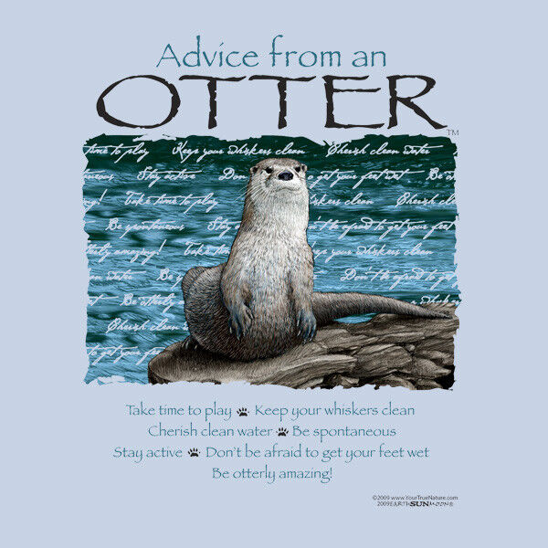 ADVICE FROM A OTTER SMALL  ADULT T-SHIRT