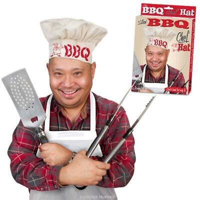 Chef Hat Costume (BBQ CHEF HAT Cook Bar-B-Que Costume Funny Weird Gag Gift)