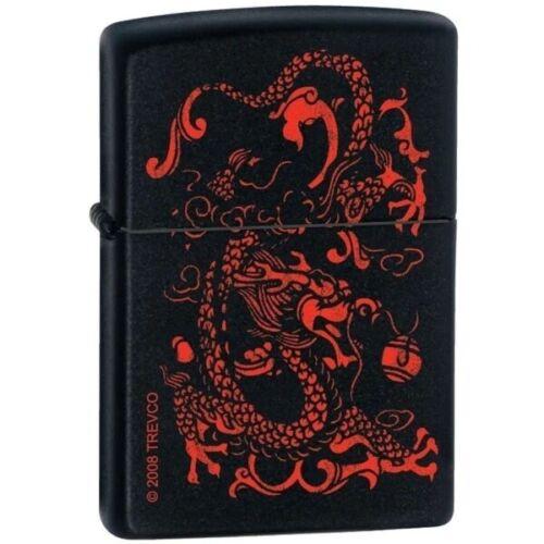 Zippo Lighter - Red Dragon Black Matte - ZCI003313
