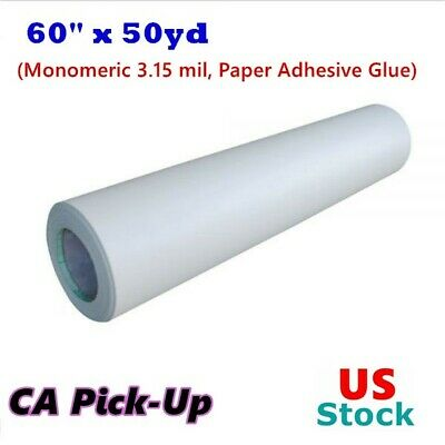 Ca Pick Up 60 X 50yd Roll Glossy Cold Laminating Film Monomeric 3.15 Mil