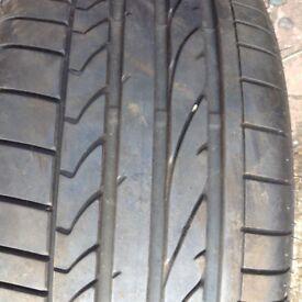 Bridgestone RUNFLAT tyre,225/45/17 7mm tread