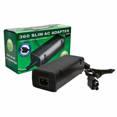 Xbox 360 Slim AC Adapter - Replacement Power Supply - double barrel (Xbox 360 Slim Ac Power Adapter Replacement)