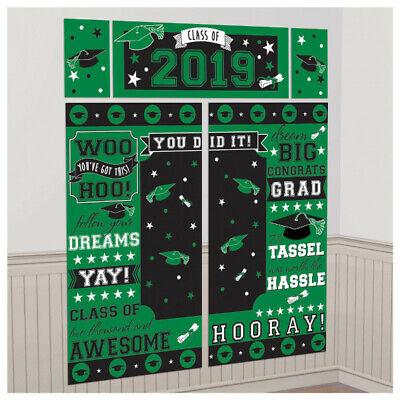 Abschluss Szene Setter Klasse Von 2020 Party Wand Dekorationen Hintergrund Grün