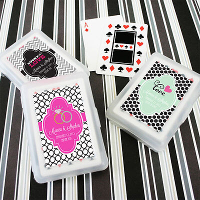 260 Personalized Themed Playing CARDS Birthday Bridal Wedding or Party Favor](Personalized Playing Cards Wedding Favors)