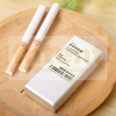 Muji Aluminum Portable Ashtray Square Japan 1 Pc